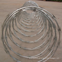 Malha de arame de aço farpado galvanizado por imersão a quente