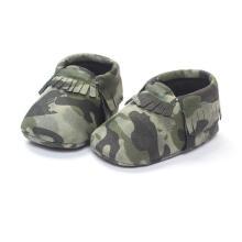 Zapatos de bebé de camuflaje de moda suela blanda infantil infantil mocasines