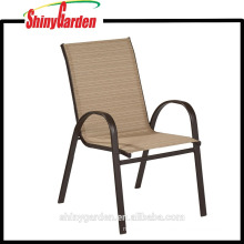 Metal Frame Outdoor Stackable Sling Dining Chair