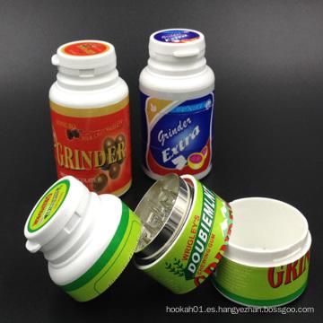 Molinos de hierbas plásticas para el uso del tabaco con diferentes colores (ES-GD-001)