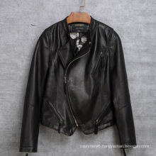 Fashion Motorcycle Garments Real Sheep Leather Garments for Women