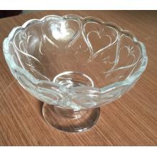 Hermoso helado de vidrio Bowl buen precio de vajilla