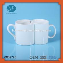 Taza personalizada, taza de los pares para el recuerdo, taza de cerámica blanca