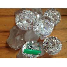 Tamaño grande brillante 100 mm redondo Cubic Zirconia piedras preciosas Stock 5PC