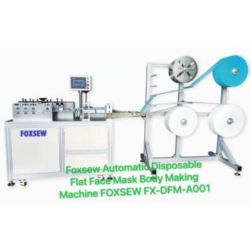 Máquina de fabricación de cuerpo de mascarilla quirúrgica desechable automática