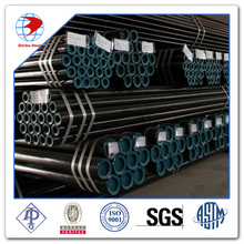 sch40 API 5L B psl1 seamless pipe line 6m black coated