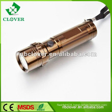 Popular cheap 12000-15000MCD mini aluminum led flashlight