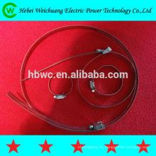 banda de acero inoxidable, conexión de energía eléctrica