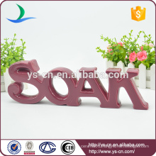 SOAK shape ceramic indoor sign for decoration