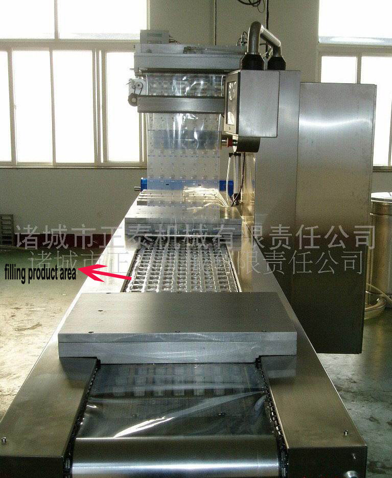 Weigh 1600kg Automatic Thermoforming Vacuum Packing Machine