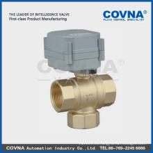 T flujo DC12V motorizado válvula de motor de 3 vías con NC y señal de retroalimentación para la bobina de ventilador y, sistema de agua caliente