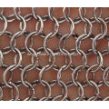 Stainless steel chain braid ring mesh