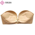 One Piece Strapless Sticky Padded Bra Cups