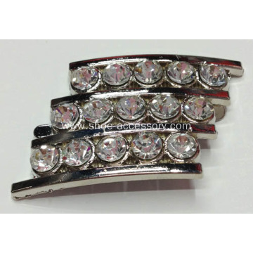 Alloy Shoe Buckles With Rhinestone