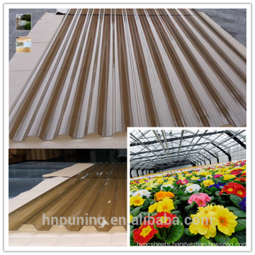 corrugated pc roofing sheet