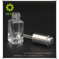 Small square foundation airless pump bottle glass empty uv gel nail polish glass bottle for makeup container