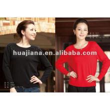 stylish women cashmere round neck sweater