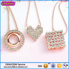 Guangzhou Boosin joyería de moda collar con colgante de diamantes de boda 2016