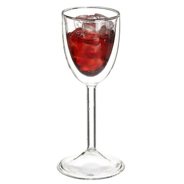 Double Wall Clear Wine Glass Cup