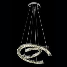 luzes de cristal luzes pendentes de aço inoxidável decorativas