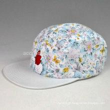 Chapéu de 5 painéis com bordado 3d