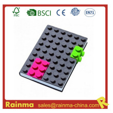 Silicon Blocks Cover Notebook for School Stationery