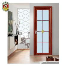 Modern house used interior aluminium frame waterproof doors for bathrooms