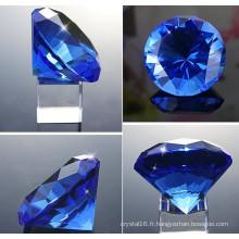 Diamant optique à facettes en cristal de cadeau de faveur de mariage Crystal Diamond Paperweight