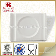 Indian dinnerware white porcelain rectangular plate dishes and plates