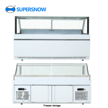 Квадратная стеклянная коммерчески витрина холодильника дисплея