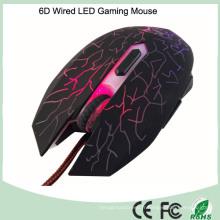 Conception ergonomique pleine grandeur Jeu de souris câblé avec 6 boutons (M-65-1)
