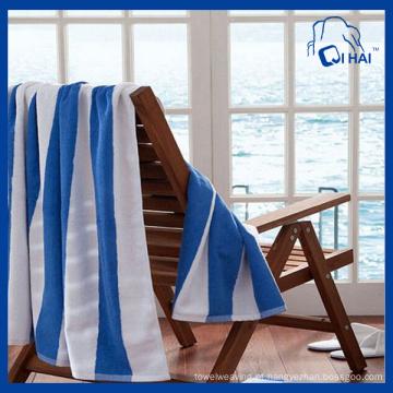 Fios de algodão tingidos toalha de praia (qhb68001)