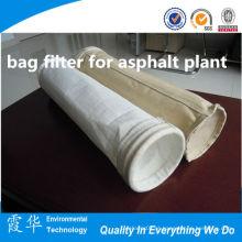 Dacron não tecido saco filtro para asfalto planta