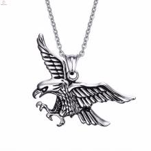 Colar de pingente de águia de aço inoxidável mais popular