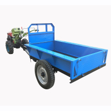 Two wheel small hand walking tractor trailer