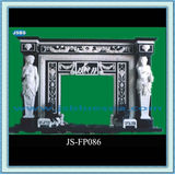 White Marble Fireplaces With Black Base