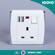Igoto British Standard 13A Interrupteur mural Prise de courant