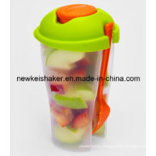 Cheap Plastic Salad Cup with Fork and Sauce Cup