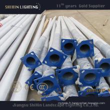 Poteau d'éclairage LED galvanisé de haute qualité 5m6m7m