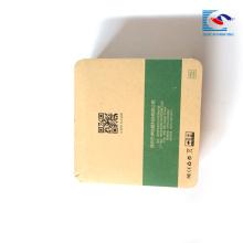 Línea de datos de empaquetado al por menor de lujo pequeña caja de papel kraft