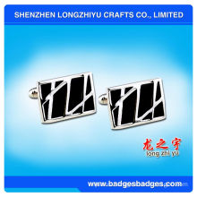 Factory Custom High Quality Silver Swank Cufflinks
