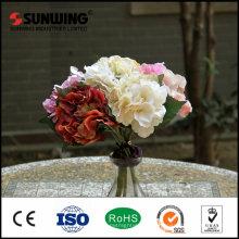 Pared cristalina artificial decorativa al aire libre roja de la flor para casarse