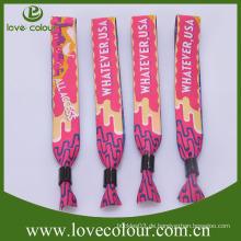 Handwerk aus Polyester gewebte Armbänder für Hochzeit Bevorzugungen Großhandel