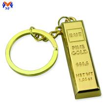 Metal Fake Gold Bar Ingot Bullion Keychain