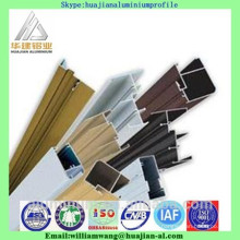 Nigeria market windows aluminium profile of powder coated, anodized black and anodized bronze