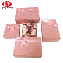 Cosmetic Skin Care Set Gift Box with Ribbon