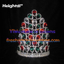 8inch Peacock Colored Big Diamond Crowns