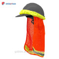 Hi-vis Safety Hard Hat Neck Shade Sun Shield,High Visibility Reflective Stripe Construction Safety Helmet Shade
