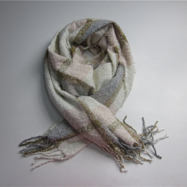 Wholesale Women Check Cheap Woven Scarf