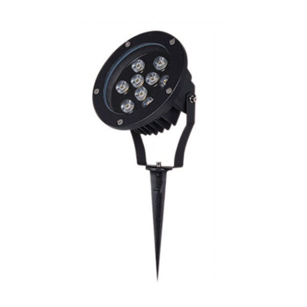Dimmable Aluminum Black 9W CREE LED Spike Light